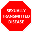 cropped stop sexually transmitted sign