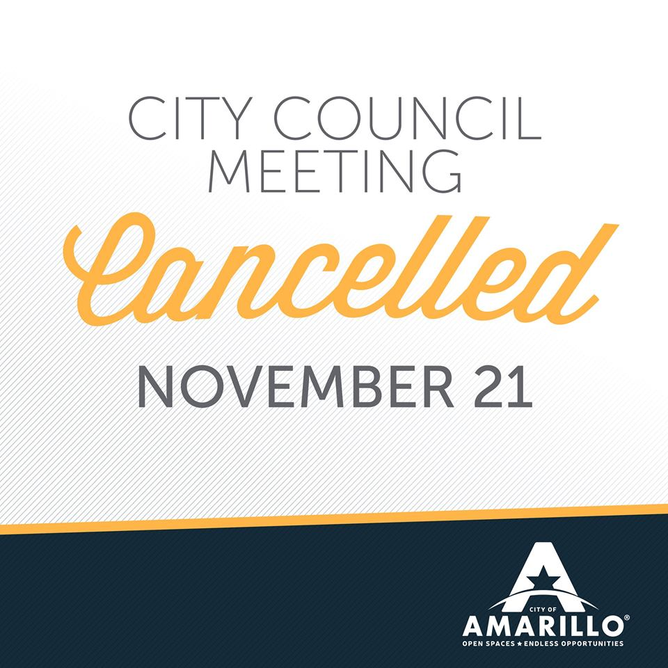 November 21 City Council Meeting Cancelled