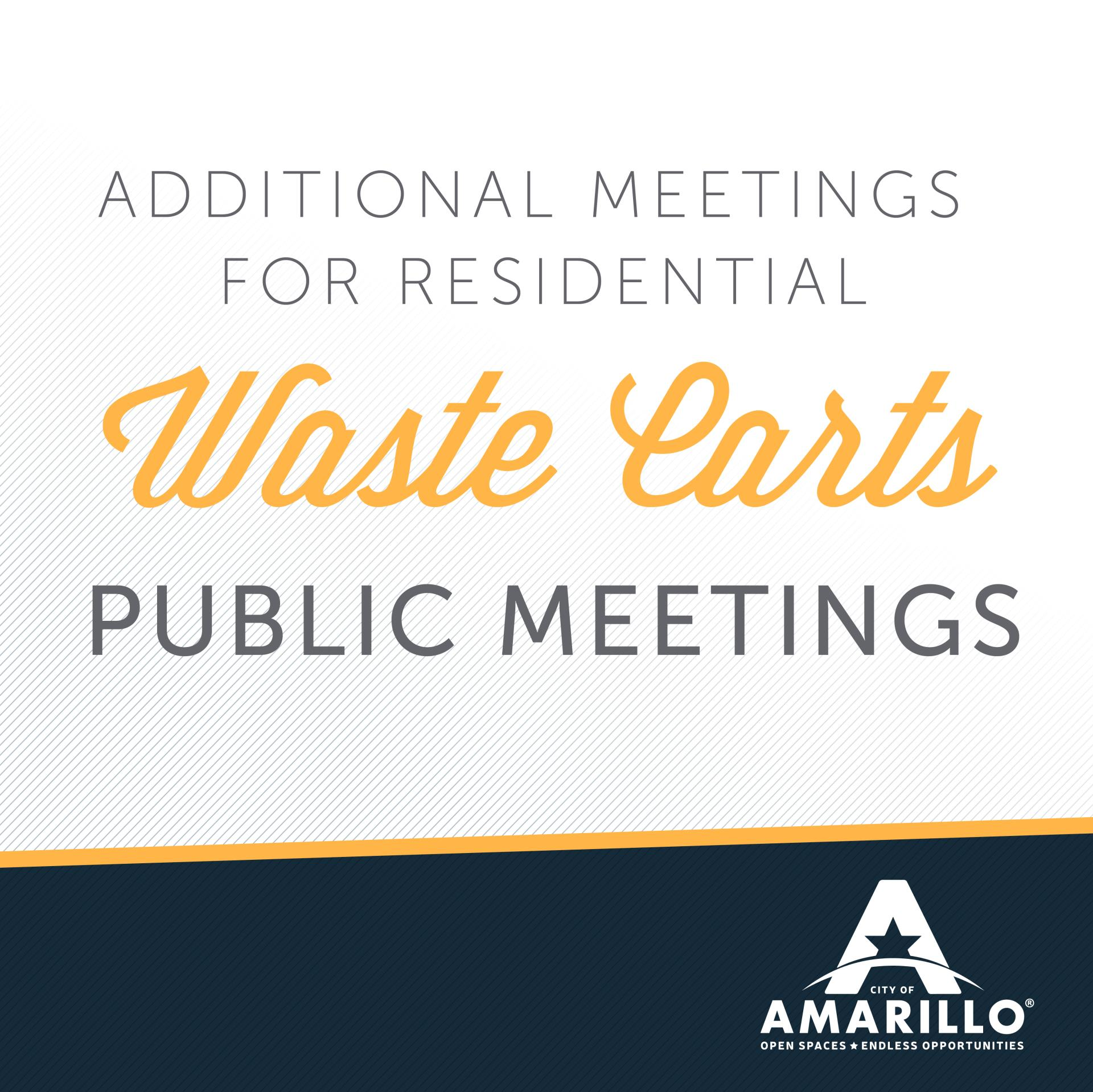 Additional Meetings Scheduled for Proposed Waste Carts