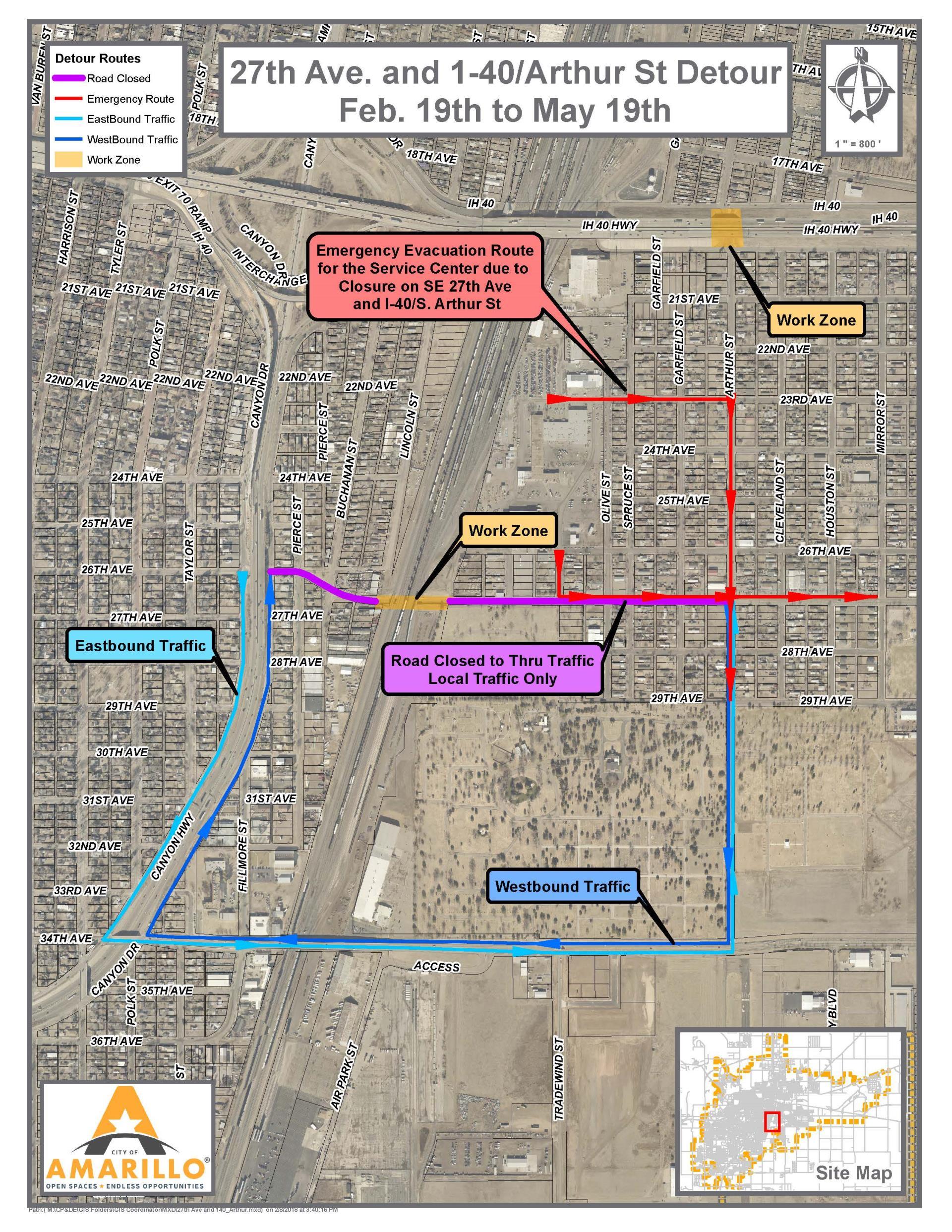 Bnsf closes se 27th avenue for bridge construction amarillo news se 27th ave closure map malvernweather Choice Image