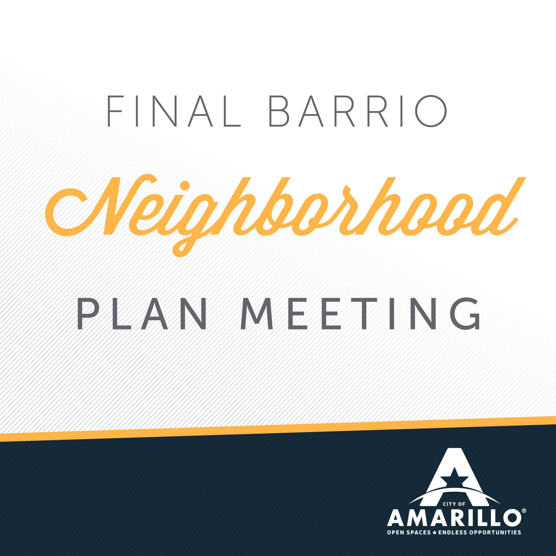 Barrio Neighborhood Plan Revealed at Upcoming Meeting
