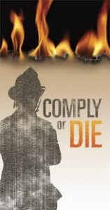 comply or die banner