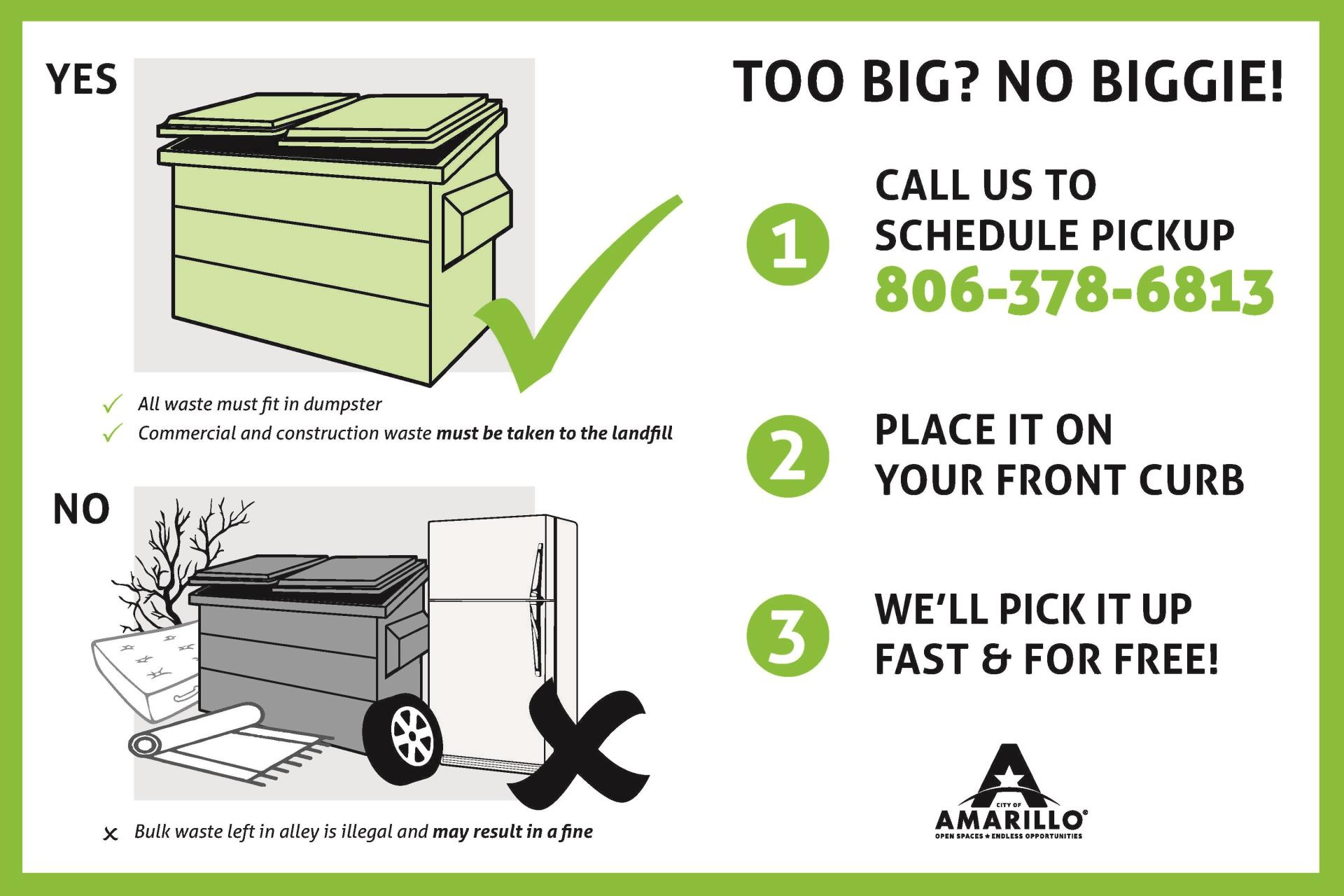 Trash Duty For Students With Special >> Bulky Item Pick Up City Of Amarillo Tx