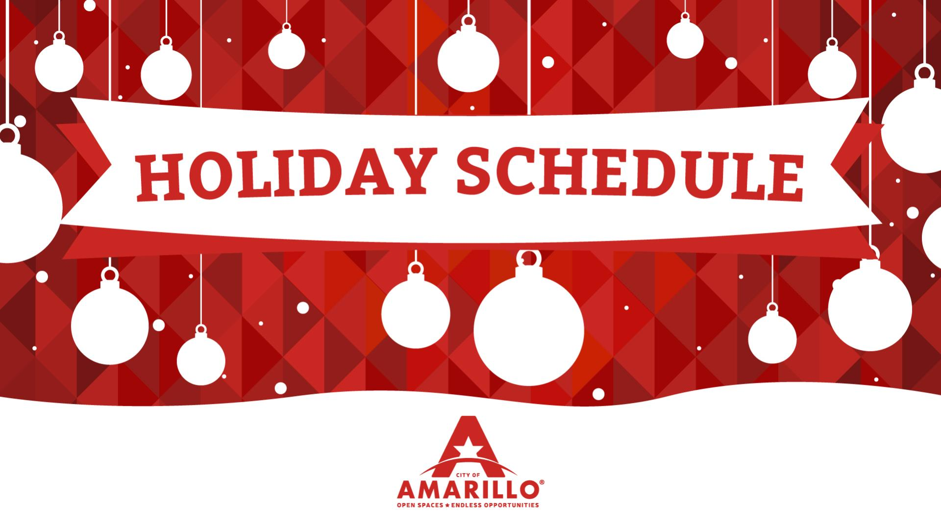 2018 Holiday Schedule-w