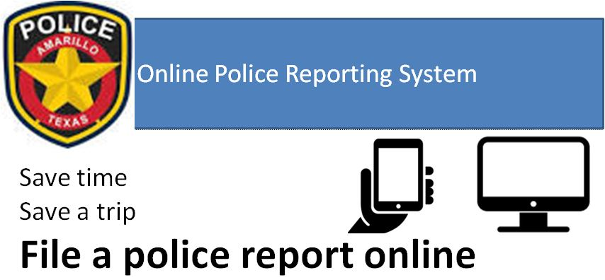 Online Reporting | City of Amarillo, TX